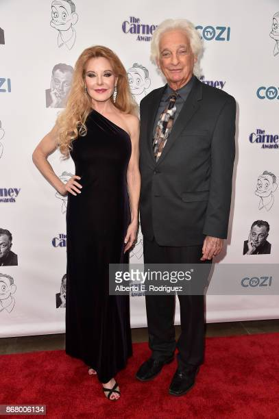 Actress Rebecca Holden and Music Producer Joel Diamond attend the 3rd Annual Carney Awards at The Broad Stage on October 29 2017 in Santa Monica...