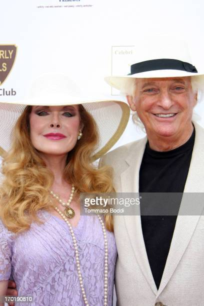 Actress Rebecca Holden and producer Joel Diamond attend the Celebrity Cup Beverly Hills Vs Celebrity Ranch polo match held at Will Roger's Polo...