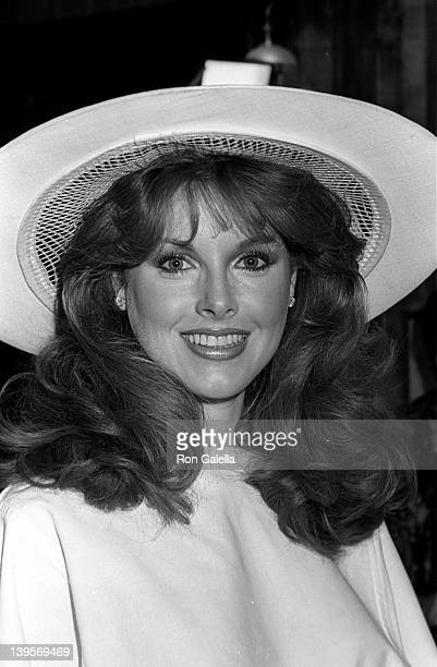 Actress Rebecca Holden attends David HasselhoffCatherine Hickland Wedding Reception on May 6 1984 at Wompopper's Restaurant in Universal City...