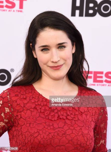 Actress Rebecca Huey arrives at the 2019 Outfest Los Angeles LGBTQ Film Festival Closing Night Gala Premiere of Before You Know It at The Theatre at...