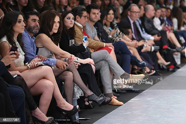 Actress Rebecca Jones attends the Alexia Ulibarri show during the second day of MercedesBenz Fashion Week México Autumn/Winter 2014 at Campo Marte on...