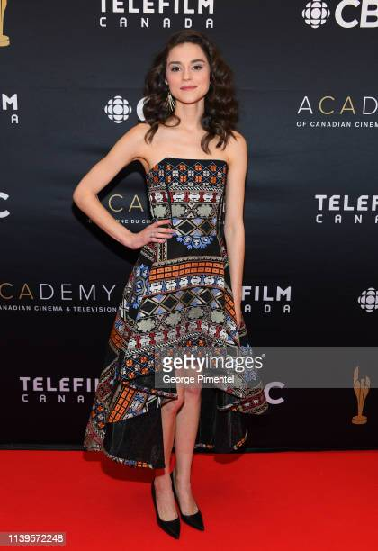 Actress Rebecca Liddiard attends the 2019 Canadian Screen Awards Broadcast Gala at Sony Centre for the Performing Arts on March 31 2019 in Toronto...