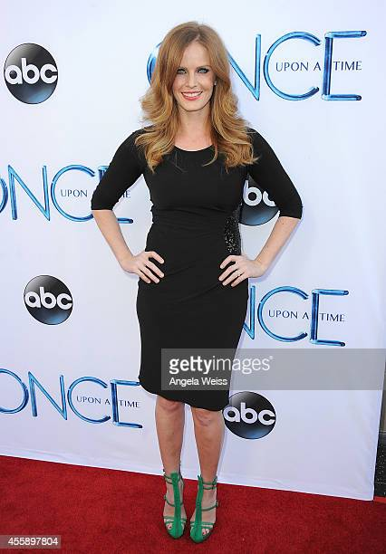 Actress Rebecca Mader attends ABC's 'Once Upon A Time' Season 4 red carpet premiere at the El Capitan Theatre on September 21 2014 in Hollywood...