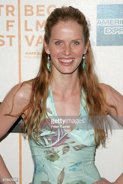"""Actress Rebecca Mader attends the """"Poseidon"""" premiere at the Tribeca Performing Arts Center May 6, 2006 in New York City."""