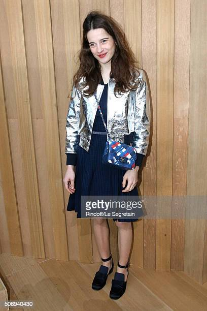 Actress Rebecca Marder attends the Chanel Spring Summer 2016 show as part of Paris Fashion Week on January 26 2016 in Paris France