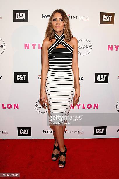 Actress Rebecca Murphy attends NYLON Magazine's Spring Fashion Issue Celebration hosted by Rita Ora at Blind Dragon on February 27, 2015 in West...