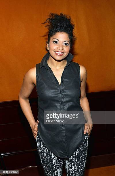 Actress Rebecca Naomi Jones attends a Photo Call for 'Hedwig and the Angry Inch' starring Darren Criss and Rebecca Naomi Jones at The Lambs Club on...