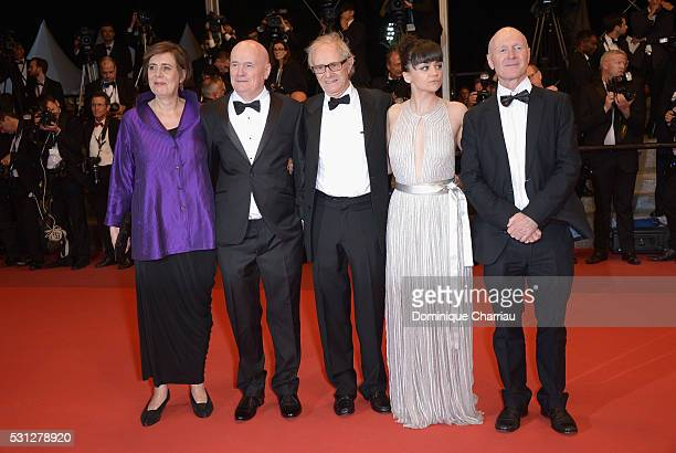 Actress Rebecca O'Brien Actor Dave Johns director Ken Loach actress Hayley Squires and actor Paul Laverty attend the 'I Daniel Blake' premiere during...