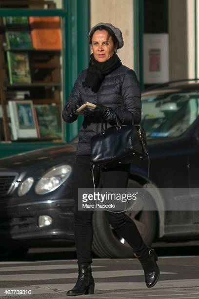 Actress Rebecca Riggs is seen on the 'Rue de Miromesnil' on February 4 2015 in Paris France
