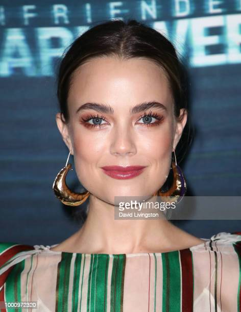 Actress Rebecca Rittenhouse attends the premiere of Blumhouse Productions and Universal Pictures' Unfriended Dark Web at LA LIVE on July 17 2018 in...