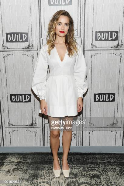 Actress Rebecca Rittenhouse vistis Build Studio on July 19 2018 in New York City