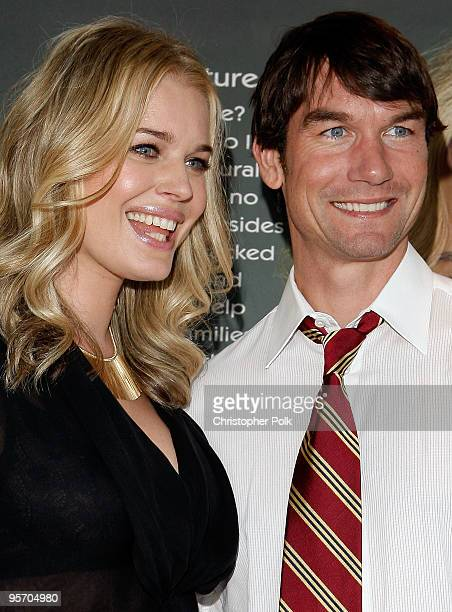 Actress Rebecca Romijn along with husband/actor Jerry O'Connell unveils her second Milk Mustache ad and kicks off the got milk 'Great Gallon Give' a...