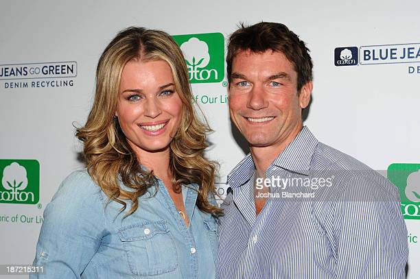 Actress Rebecca Romijn and Actor Jerry O'Connell arrive at the Blue Jeans Go Green Event at SkyBar at the Mondrian Los Angeles on November 6 2013 in...