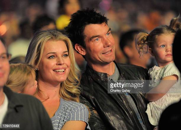 Actress Rebecca Romijn and actor Jerry O'Connell with their twin daughters Dolly Rebecca Rose and Charlie Tamara Tulip attend YO GABBA GABBA @ KIA...