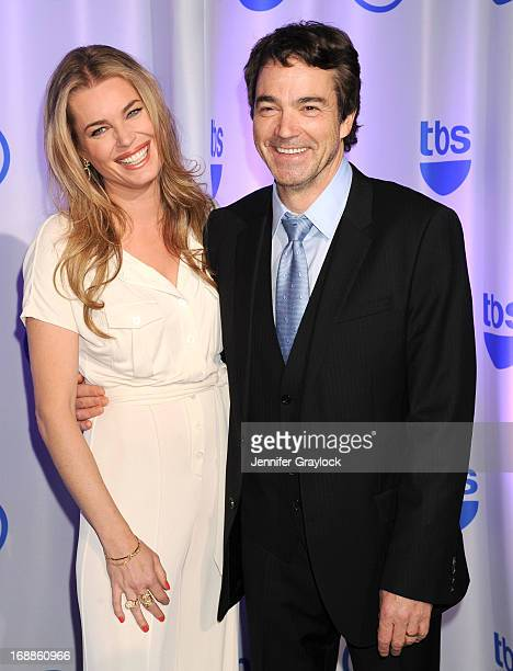 Actress Rebecca Romijn and Actor Jon Tenney attends the 2013 TNT/TBS Upfront presentation at Hammerstein Ballroom on May 15 2013 in New York City