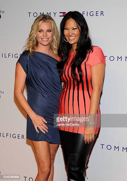 Actress Rebecca Romijn and designer Kimora Lee Simmons pose at the Tommy Hilfiger 25th anniversary celebration at The Metropolitan Opera House on...
