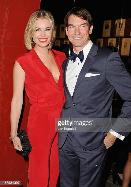 Actress Rebecca Romijn and husband actor Jerry O'Connell arrive at the 2nd Annual Baby2Baby Gala at The Book Bindery on November 9 2013 in Culver...