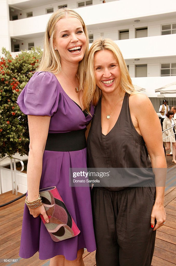 Actress Rebecca Romijn (L) and make-up artist Monika Blunder attend the Dior Beauty Luncheon held at Hotel Shangri-La on June 3, 2009 in Santa Monica, California.