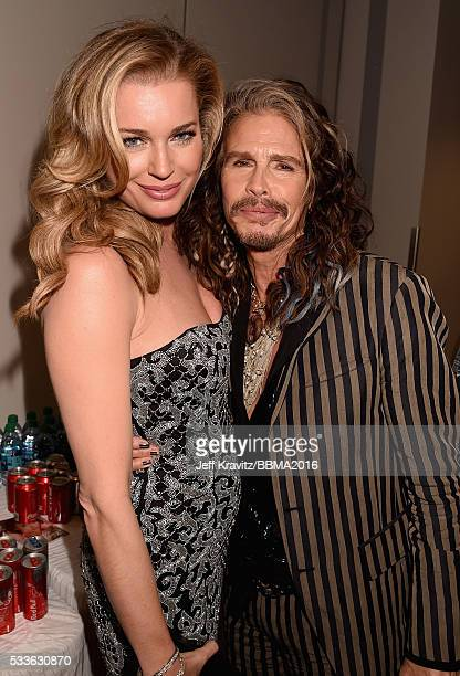 Actress Rebecca Romijn and singer Steven Tyler attend the 2016 Billboard Music Awards at TMobile Arena on May 22 2016 in Las Vegas Nevada