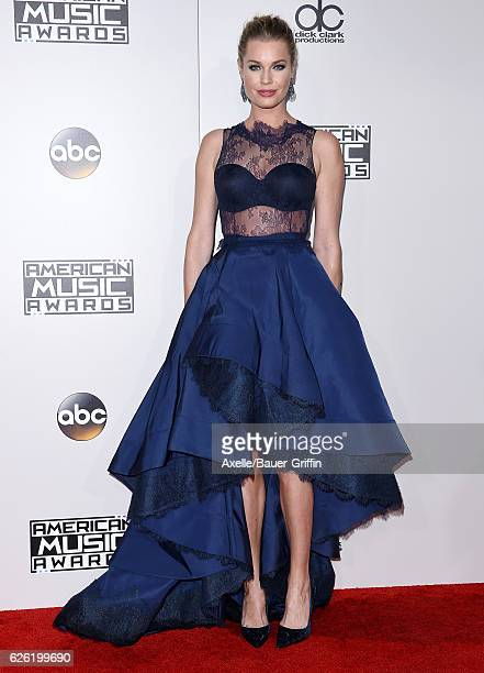 Actress Rebecca Romijn arrives at the 2016 American Music Awards at Microsoft Theater on November 20 2016 in Los Angeles California