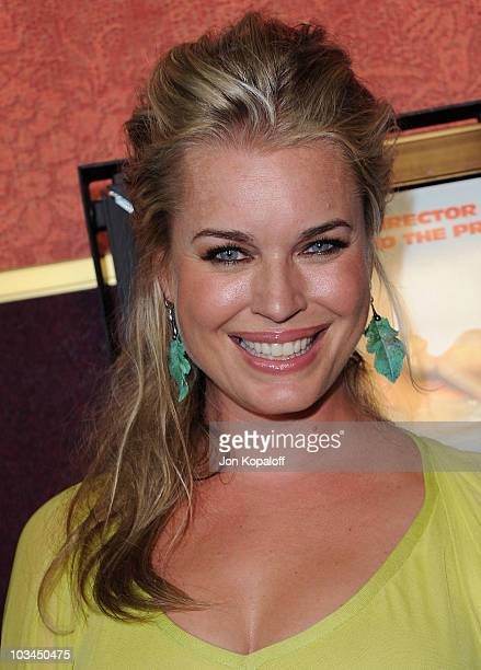 Actress Rebecca Romijn arrives at the Los Angeles Premiere 'Piranha 3D' at Mann Chinese 6 on August 18 2010 in Los Angeles California