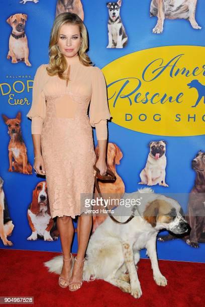 Actress Rebecca Romijn attends the 2018 American Rescue Dog Show at Pomona Fairplex on January 14 2018 in Pomona California