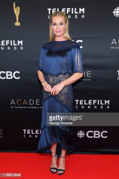 Actress Rebecca Romijn attends the 2019 Canadian Screen Awards Broadcast Gala at Sony Centre for the Performing Arts on March 31 2019 in Toronto...