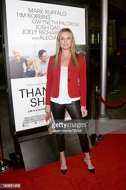 Actress Rebecca Romijn attends the premiere of Roadside Attractions' Thanks For Sharing at ArcLight Cinemas on September 16 2013 in Hollywood...