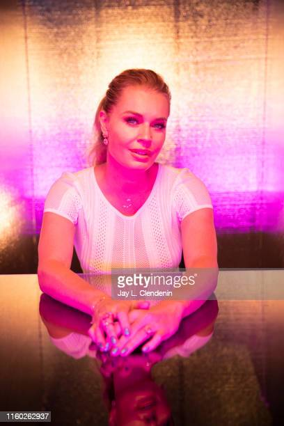 Actress Rebecca Romijn of 'Star Trek Short Treks' and 'Star Trek Discovery' is photographed for Los Angeles Times at ComicCon International on July...