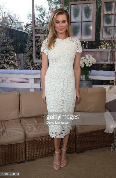 Actress Rebecca Romijn poses at Hallmark's 'Home Family' at Universal Studios Hollywood on February 16 2018 in Universal City California