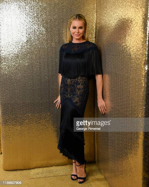 Actress Rebecca Romijn poses inside the 2019 Canadian Screen Awards Portrait Studio held at Sony Centre for the Performing Arts on March 31, 2019 in...