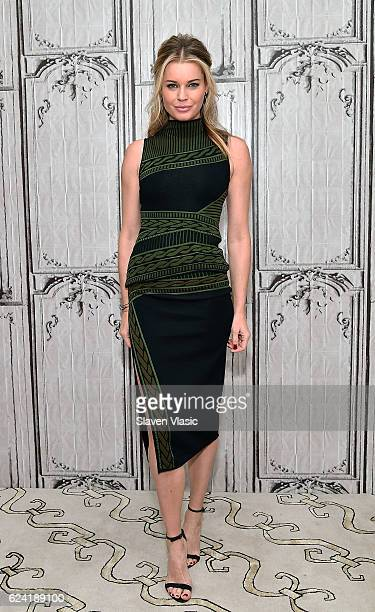 Actress Rebecca Romijn visits AOL BUILD to discuss The Librarians at AOL HQ on November 18 2016 in New York City