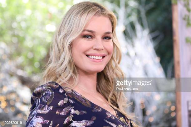 Actress Rebecca Romijn visits Hallmark Channel's Home Family at Universal Studios Hollywood on February 11 2020 in Universal City California