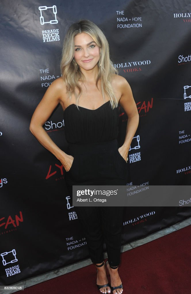"Actress Rebekah Graf arrives for the Premiere Of Parade Deck's ""Lycan"" held at Laemmle's Ahrya Fine Arts Theatre on August 15, 2017 in Beverly Hills, California."