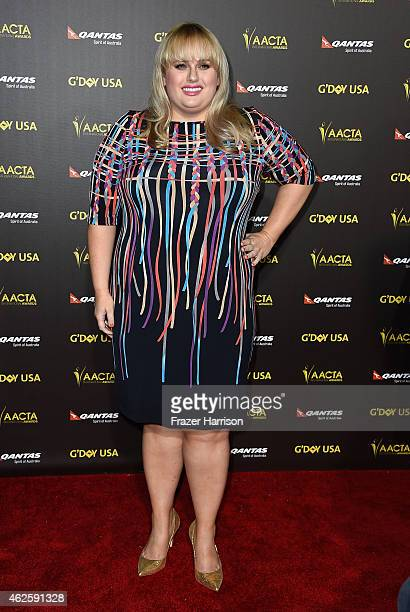 Actress Rebel Wilson arrives at the 2015 G'Day USA Gala Featuring The AACTA International Awards Presented By QANTAS at the Hollywood Palladium on...