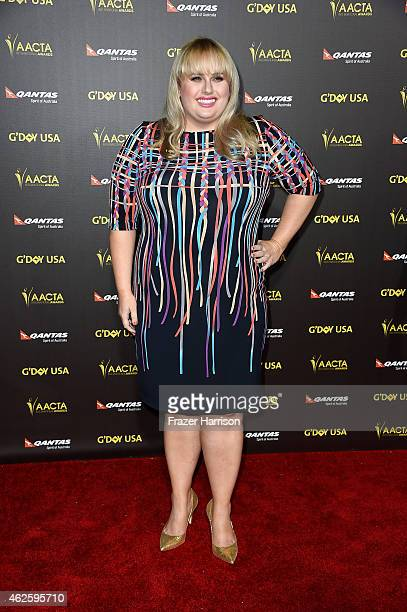 2e6c79c4dbf Actress Rebel Wilson arrives at the 2015 G Day USA Gala Featuring The AACTA  International.