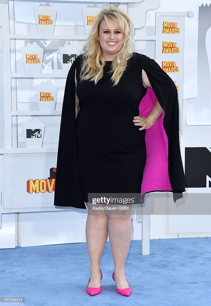 Actress Rebel Wilson arrives at the 2015 MTV Movie Awards at Nokia Theatre L.A. Live on April 12, 2015 in Los Angeles, California.