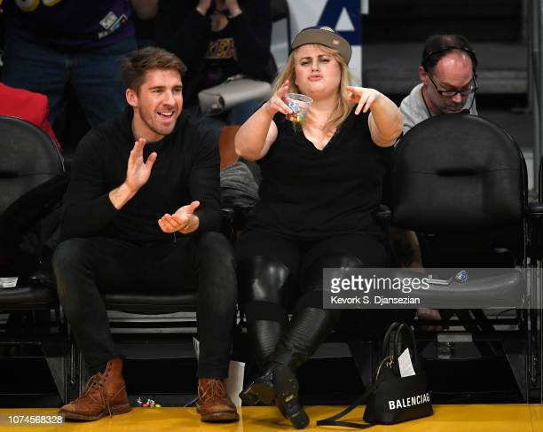 Actress Rebel Wilson attend a basketball game between New Orleans Pelicans and Los Angeles Lakers at Staples Center on December 21 2018 in Los...