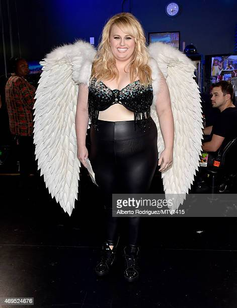 Actress Rebel Wilson attends The 2015 MTV Movie Awards at Nokia Theatre LA Live on April 12 2015 in Los Angeles California