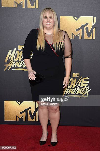 Actress Rebel Wilson attends the 2016 MTV Movie Awards at Warner Bros Studios on April 9 2016 in Burbank California MTV Movie Awards airs April 10...