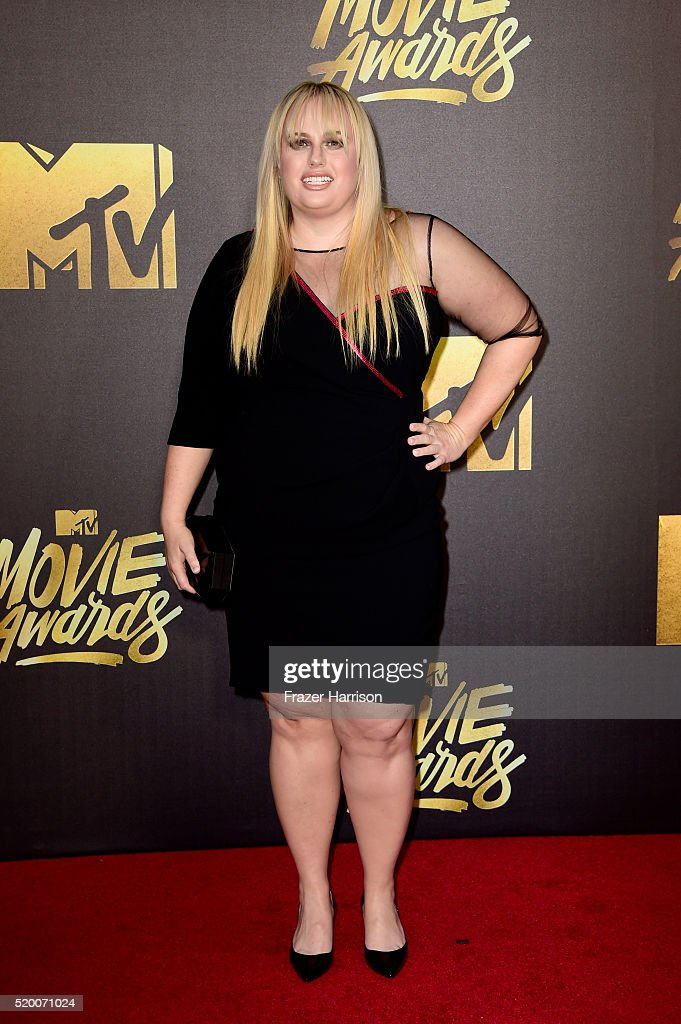 Actress Rebel Wilson attends the 2016 MTV Movie Awards at Warner Bros. Studios on April 9, 2016 in Burbank, California. MTV Movie Awards airs April 10, 2016 at 8pm ET/PT.