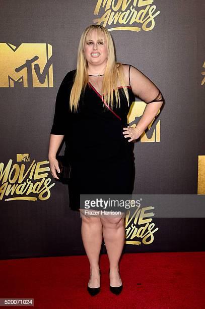 Actress Rebel Wilson attends the 2016 MTV Movie Awards at Warner Bros Studios on April 9 2016 in Burbank California MTV Movie Awards airs April 10...