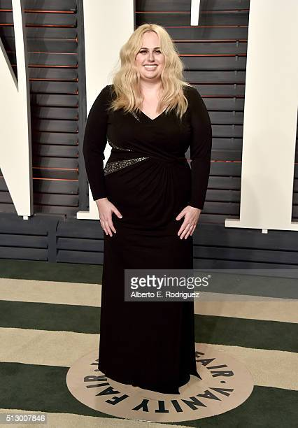 Actress Rebel Wilson attends the 2016 Vanity Fair Oscar Party hosted By Graydon Carter at Wallis Annenberg Center for the Performing Arts on February...