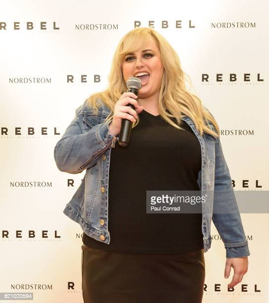 Actress Rebel Wilson introduces here clothing line Rebel Wilson X Angels at Nordstrom Downtown Seattle on July 22 2017 in Seattle Washington Rebel...
