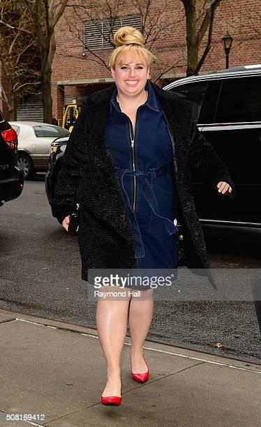 Actress Rebel Wilson is seen walking in Soho on February 3 2016 in New York City