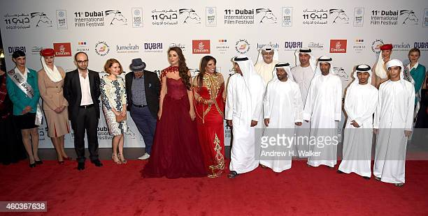 Actress Reem Erhama guest DIFF Chairman Abdulhamid Juma Artistic Director of DIFF Masoud Amralla Al Ali director Waleed Al Shehhi production manager...