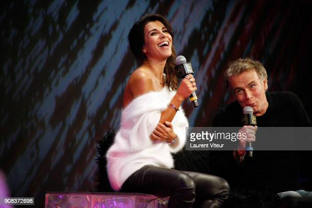 Actress Reem Kherici and Actor Franck Dubosc attend Closing Ceremony during the 21st Alpe D'Huez Comedy Film Festival on January 20 2018 in Alpe...