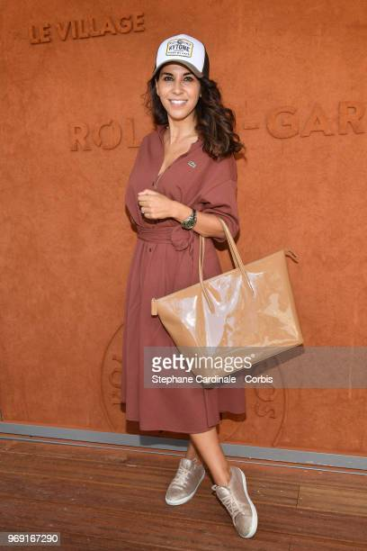 Actress Reem Kherici attends the 2018 French Open Day Twelve at Roland Garros on June 7 2018 in Paris France