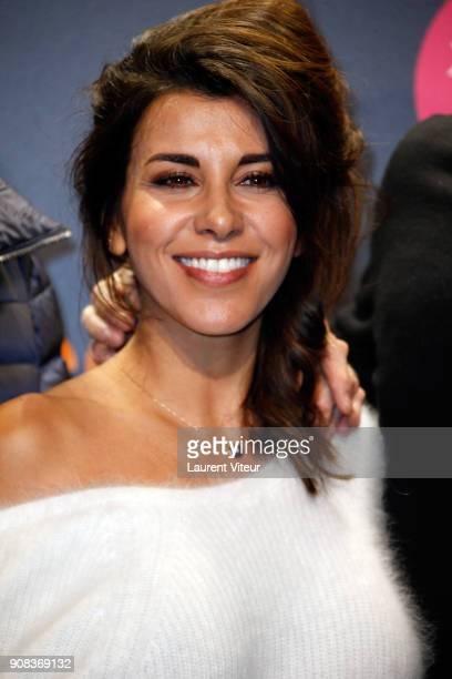 Actress Reem Kherici attends the 21st Alpe D'Huez Comedy Film Festival on January 20 2018 in Alpe d'Huez France