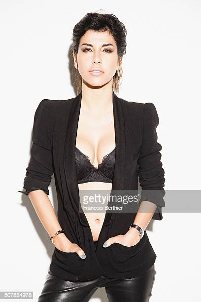 Actress Reem Kherici is photographed for Self Assignment on January 20 2015 in Paris France